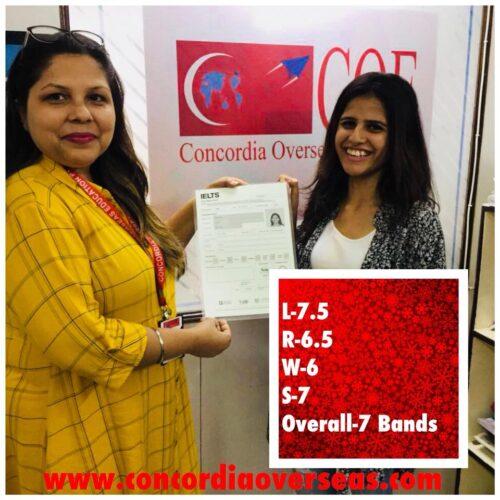 Congrats ConCordian AAkriti Mahajan #IELTS score-7 bands