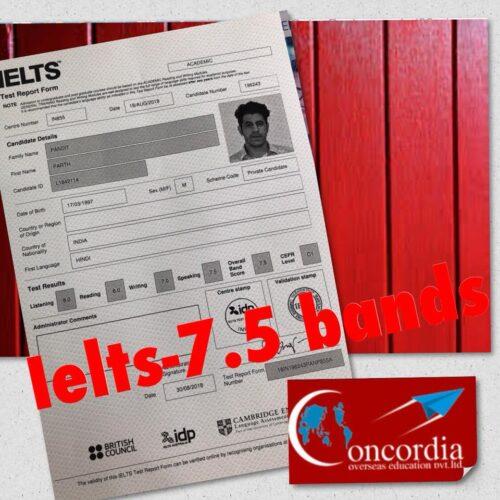 Congrats ConCordian Parth Pandit #IELTS score-7.5bands