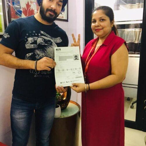 Congrats Sidakjeev Singh Ielts score-7.5 bands Score 7+ bands in IELTS