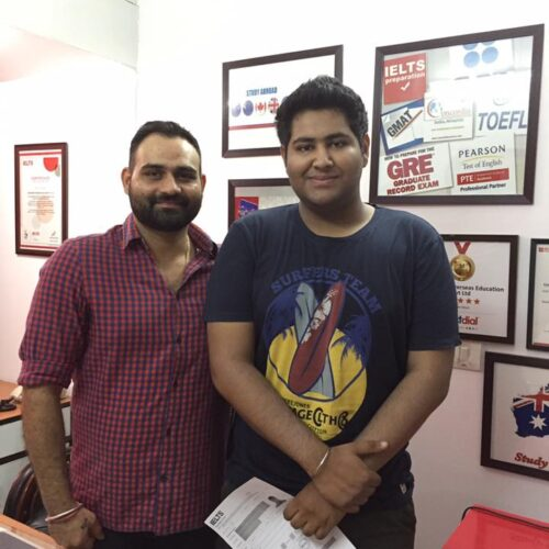Congratulations Chitesh for scoring 8 bands in IELTS and 318 in GRE